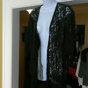 Anthropologie Mauve ladies lace cardigan